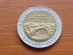 ARGENTÍNA 1 PESOS 2010 EMLÉK 1810-2010 BIMETÁL #