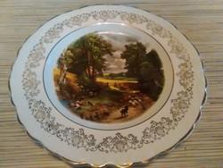 Porcelán dísz tányér