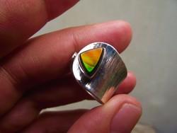 Ammolit opál köves ezüst gyűrű 3.