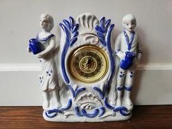 Páros figurás porcelán kandalló óra