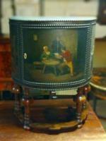 Antique leather dresser