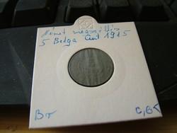 Német megszállás 10 Belga cent 1916 R!