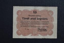 1849 15 Pengő krajcár. VF