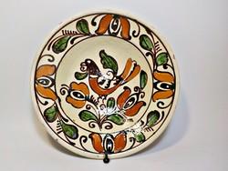 Madaras Korondi cserép tányér , falitányér
