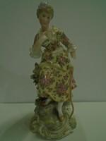 Antik 18.sz-i Höchst porcelán figura1765-1774 közti a jel muzeális darab