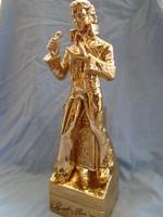 Eozin porcelán Elvis Presley '77 emlékére; Sincerelly(Tisztelettel) Elvis '77 felirattal