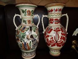 Két óriási, 52 cm magas, Korondi váza, jó állapotban