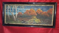 1923.magyar festő által festett öszi tájkép szép állapotban