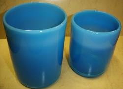 Muránói kék transzparens- /opálüveg pohár pár
