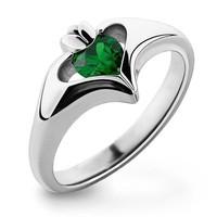 Zöld köves gyűrű 9-es  ÚJ