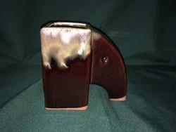 Art deco kerámia elefántos váza