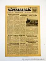 1981 május 16  /  NÉPSZABADSÁG  /  SZÜLETÉSNAPRA! RETRO, RÉGI EREDETI ÚJSÁG Szs.:  10779
