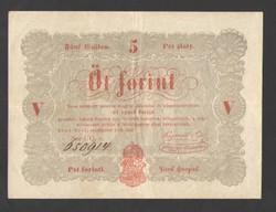 5 forint 1848.  PIROS!!  GYÖNYÖRŰ!!