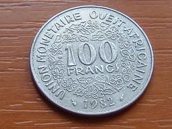 NYUGAT AFRIKA 100 FRANK FRANCS 1982  #