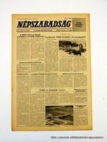 1981 május 20  /  NÉPSZABADSÁG  /  SZÜLETÉSNAPRA! RETRO, RÉGI EREDETI ÚJSÁG Szs.:  10782
