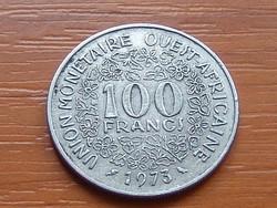 NYUGAT AFRIKA 100 FRANK FRANCS 1973  #