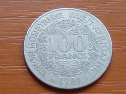 NYUGAT AFRIKA 100 FRANK FRANCS 1980  #