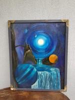 Holdak kastélya, 80x100, olaj, vászon, plusz keret