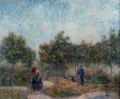 Litteczky Endre (1880-1953):  Sétálók