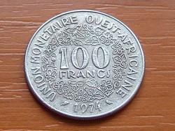 NYUGAT AFRIKA 100 FRANK FRANCS 1974  #