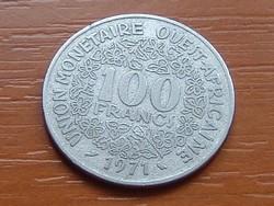 NYUGAT AFRIKA 100 FRANK FRANCS 1971  #