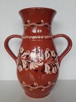 Kerámia váza, HMV jelzés, talán Cséki, 32 cm