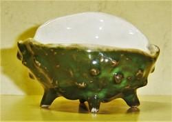 Antik Zsolnay vadgesztenye héj asztali sótartó