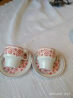 Régi szép  hollóházi kávés csésze párban
