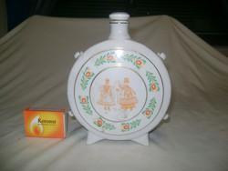 Hollóházi porcelán kulacs