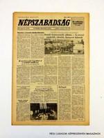 1981 május 8  /  NÉPSZABADSÁG  /  SZÜLETÉSNAPRA! RETRO, RÉGI EREDETI ÚJSÁG Szs.:  10772