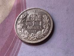 1912 ezüst 1 korona magyar KB ,szép darab