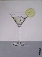 Martini jéggel c. olajfestmény