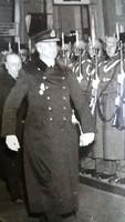 EREDETI JELZETT SAJTÓ FOTÓ FÉNYKÉP HORTHY MIKLÓS + WILHELM MIKLAS WIEN 1936 TÖRTÉNELEM DOKUMENTUM