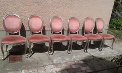 Barokk szék hat darab.