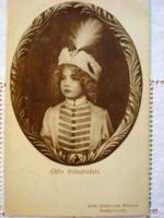 Habsburg Ottó trónörököst ábrázoló magyar királyi hadsegélyező lap (1916)