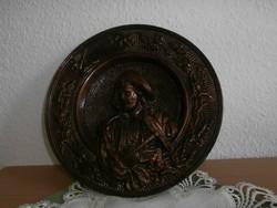 Gipsz fali tányér