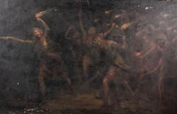 Antik jelzett számomra ismeretlen festmény.