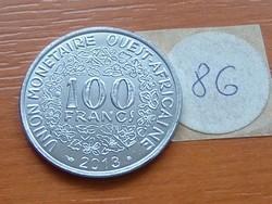 NYUGAT AFRIKA 100 FRANK FRANCS 2013 86.