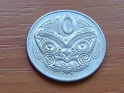 ÚJ-ZÉLAND NEW ZEALAND 10 CENT 1987 MAORI MASZK
