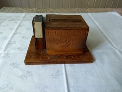 Faragott cigaretta kínáló, antik, talán Erdélyben készült