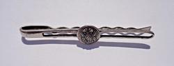 Virágos ezüst nyakkendőcsipesz