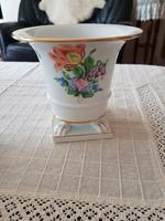 Antik herendi körmös váza, kaspó