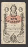 1 forint / 1 gulden 1858.  Bélyegzett!!  Ritka!!