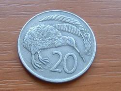 ÚJ-ZÉLAND NEW ZEALAND 20 CENT 1974 KIWI MADÁR
