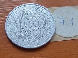 NYUGAT AFRIKA 100 FRANK FRANCS 2013 71.
