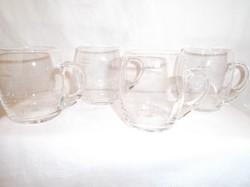 Üveg - 4 db  üvegkorsó - boros 1,8 dl - hibátlan