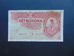 Csillagos 2 korona 1920 Színváltozat !