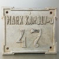 """""""Marx Károly-u. 47"""" házszám fémtábla (674)"""