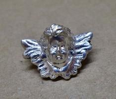 Szép kis antik ezüst angyal bross