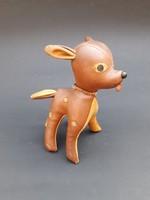 Tak Toy műbőr őzike - Bambi játék figura - retro gyerek játék